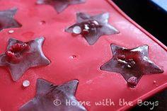 Fruity ice: great snack/entertaining idea!