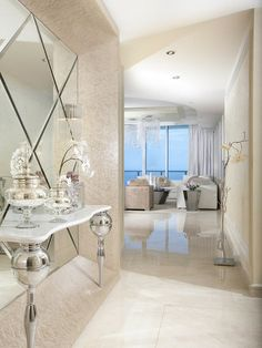 Modern Interior Design At The Jade Beach, Modern Entry, Miami