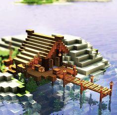 Minecraft Quality Merch Here ⬆ Craft Minecraft, Cute Minecraft Houses, Minecraft Farm, Minecraft Garden, Minecraft Plans, Amazing Minecraft, Minecraft Decorations, Minecraft House Designs, Minecraft Construction