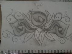 Calla Lily Sketch 1 - Artwork by Meg Hammond