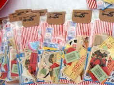 Paper goodies for a circus/carnival theme party