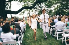 running back down the aisle looks like the best idea ever!