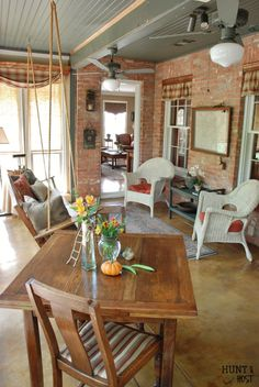 european cottage home tour this enclosed sun porch is the perfect place to hang out