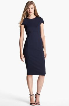 seamed pencil dress