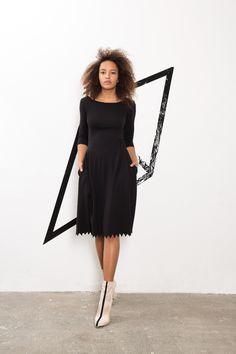 IMRECZEOVA SS18 black dress with zig-zag hem 60 Degrees, Zig Zag, Black, Dresses, Vestidos, Black People, Dress, Day Dresses, Gowns