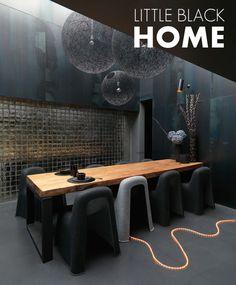all black dining space #decor #black