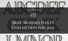 Check out these simple, yet modern fonts and create cool typeface designs with ease. These are the best free fonts we found for 2016. Enjoy!