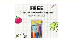 Get Crayola Bathtub Crayons Free from Walmart after cash back! Valid 1/9-1/20. New members only.  Free Crayola Bathtub Crayons