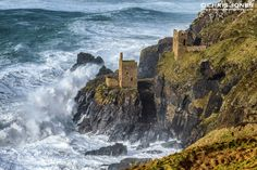 Wild Storm at The Engine Houses at Crown Mines, Botallack, Cornwall
