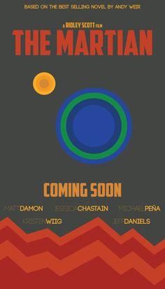 The Martian (2015) ~ Minimal Movie Poster by Gregory Zackim #amusementphile