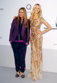 CAP D'ANTIBES, FRANCE - MAY 24:  (L-R) Eva Cavalli and model Karolina Kurkova arrive at the 2012 amfAR's Cinema Against AIDS during the 65th Annual Cannes Film Festival at Hotel Du Cap on May 24, 2012 in Cap D'Antibes, France.
