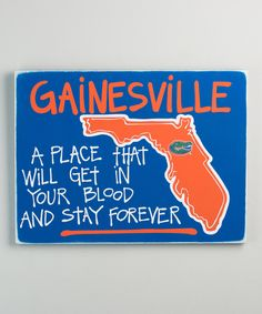 Look at this Florida Gators Map Wall Sign on #zulily today!