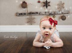 Baby Headband  Red Sparkle Headband   Red Sequin Bow headband