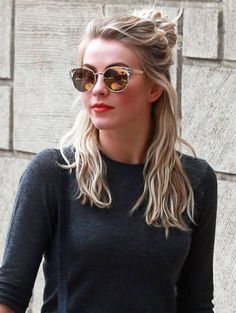 Julianne Hough | ELLE (Boho Top Knot)