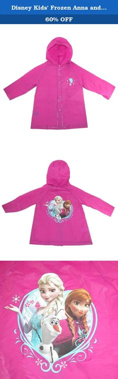 Disney Kids' Frozen Anna and Elsa Rain Coat. Your child is going to love this adorable Frozen raincoat. Not only is the image really fun, but the coat is very practical for keeping your child dry. The hood, long sleeves, and snap up front will keep their clothes from getting soaked in the rain.