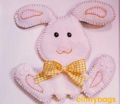 Coniglietto di pasqua in feltro handmade♥, by Elimybags, 6,00 € su misshobby.com