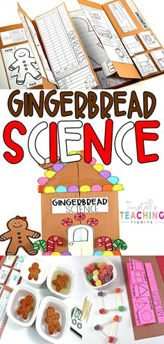 This unit provides interactive activities to teach all about gingerbread related science themes! Tie in a fascinating subject like gingerbread houses and cookies to your science standards with this holiday unit.  Fill your own science notebook or create a 3 dimensional science book full of interactive hands on science lessons!  Use simple gingerbread library non-fiction books, videos, and google jr. searches to discover about them!