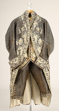 Suit 1770, British, Made of silk