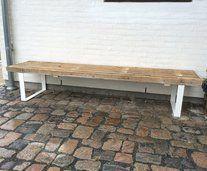 trellebænk - konstruktion Outdoor Furniture, Outdoor Decor, Dining Bench, Outdoor Living, Allotments, Inspiration, Google, Home Decor, Ideas