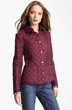 Burberry Brit 'Kencott' Patch Pocket Quilted Coat available at #Nordstrom