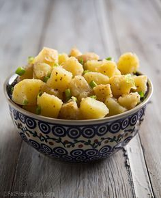 Vegan and Oil-Free German Potato Salad, add facon