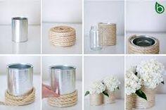 Risultati immagini per abbellire un vaso di fiori con la carta