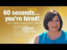 60 Seconds and You're Hired! with Robin Ryan -- Career Boost Camp 2013 - YouTube