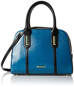 Women's Top-Handle Handbags - Anne Klein Show Off Satchel Bag TealBlack One Size >>> Check this awesome product by going to the link at the image.
