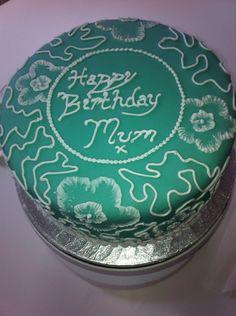Mum birthday cake brush embroidery