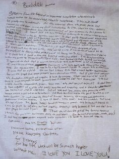 Kurt Cobains Suicide note say it while you can