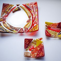 Fused glass dishes glass fusing course