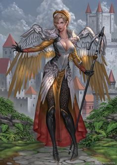 Want to discover art related to overwatch? Check out inspiring examples of overwatch artwork on DeviantArt, and get inspired by our community of talented artists. Fantasy Characters, Female Characters, Overwatch Pharah, Overwatch Digital, Overwatch Memes, Wolf, Angels And Demons, Anime Life, Video Game Art
