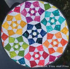 Sun Print EPP mini quilt | Mud, Pies and Pins