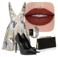"""""""Untitled #182"""" by perlahak on Polyvore featuring Notte by Marchesa, Yves Saint Laurent and Jimmy Choo"""
