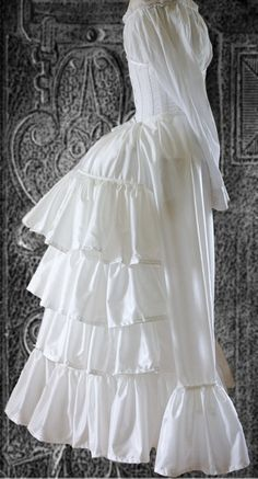 Dress Bustle Petticoat 1880's. Great for a Marie Antoinette or any Elizabethan period costume sketch.