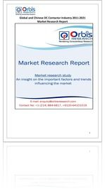 The 'Global and Chinese DC Contactor Industry, 2011-2021 Market Research Report' is a professional and in-depth study on the current state of the global DC Contactor industry with a focus on the Chinese market.   Browse the full report @ http://www.orbisresearch.com/reports/index/global-and-chinese-dc-contactor-industry-2011-2021-market-research-report .  Request a sample for this report @ http://www.orbisresearch.com/contacts/request-sample/190608 .