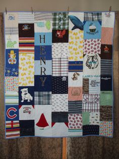 Baby clothes quilts preserve all those little boy memories!