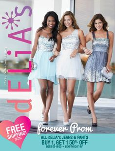 April 2013 dELiA*s Catalog.... The silver one on the right was the one I wore to formal!