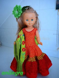 Anilegra moda para muñecas: Os enseño mis trajes de flamenca ,sed benevolentes!!!!