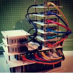 Raspberry Pi 3 cluster by @4hackrr #raspberrypicluster #cluster #server #embedded #embeddedsystems #electronics #developer #board #maker #raspbian #gpio #iot #linux #raspberrypi #raspberrypi3 #ic #programming #computers #computerscience #computerhardware #hellotechnology by hellotechnology