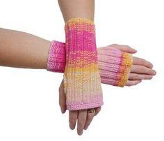 Einfache Armstulpen Stulpen Arm mit Daumenloch stricken Frühling Sommer Anleitung Hände