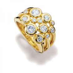 Cirkel Diamonds Ring by Cassandra Goad★༺❤༻★
