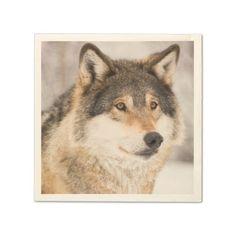 Wolf paper napkins