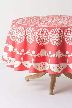 Mina Tablecloth, Round - anthropologie.com