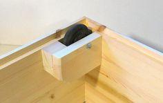 Storage drawers w/ Rollerblade wheels