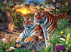 A curious picture riddle: count the tigers