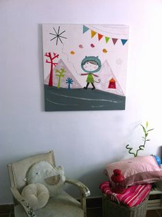 Custom art for children- cuadros  infantiles a medida Haciendo el Indio