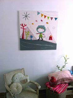 Custom art for children- cuadros  infantiles a medida Haciendo el Indio
