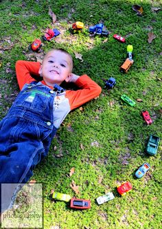 Birthday Boy Photo Using Cars to make his age! For sure!! :)