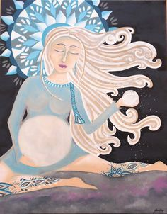 Moon Woman Art by Jeanne Fry